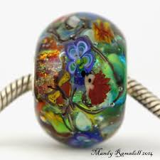 halloween lampwork beads sterling silver mandy ramsdell glass artist and blogger