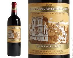 learn about st julien bordeaux 1998 chateau ducru beaucaillou julien prices
