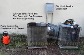 to clean and straighten ac condenser coils