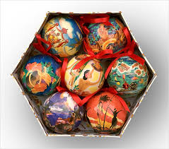 hawaiian ornaments set of 7