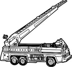 fire truck clipart transparent pencil color fire truck