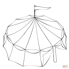 circus tent coloring page free printable coloring pages