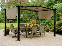 Patio Gazebos And Canopies Outdoor Canopies Gazebos Screened - Backyard shelters designs