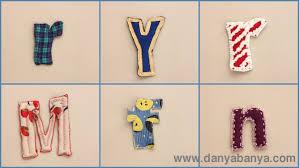 upcycled fabric letters and numbers u2013 danya banya