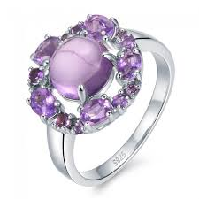 natural amethyst rings images Purple wonder trendy luxury 4ct genuine natural amethyst jpg