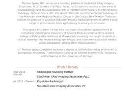 Sample Resume For Radiologic Technologist by Radiologist Resume Samples Visualcv Resume Samples Database