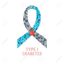 diabetes ribbon diabetes type 1 awareness symbol blue and grey ribbon made of