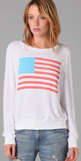 Flag Sweater Summer In Wildfox America Sweater With Flag Print 4 July 2014