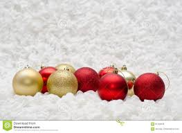 and gold balls ornaments on white background stock