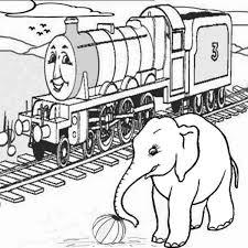 thomas train railroad elephant coloring color luna
