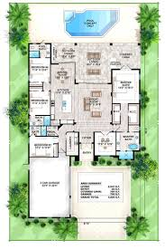 3 bedroom house plans one story house plans one level plan 3 bedrooms 2 car garage mediterranean