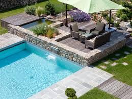 garde corps jardin jardin paysager terrasse piscine et pierres aménagement jardin