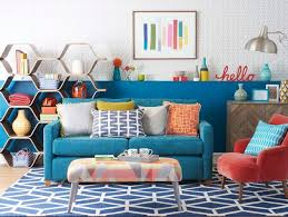 Retro Living Room Check Out This Modern Retro Living Room With Geometric Patterns