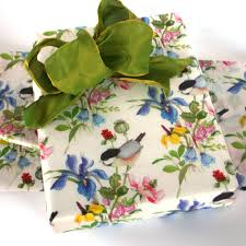 floral tissue paper printed tissue paper floral chinoiserie birds flowers green
