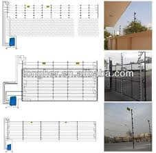 alarm electric fence system for home integrated gsm cctv view