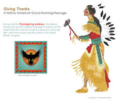 thanksgiving american giving thanks a native american good morning message known as the