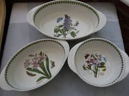kitch u0027n u0027 chic portmeirion botanic garden 3 x glass lid casseroles