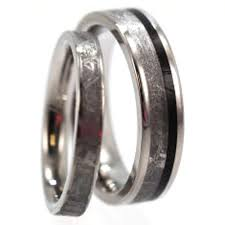 womens titanium wedding bands meteorite wedding band set men s wood ring with women s titanium