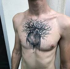 50 unique chest tattoos for masculine design ideas