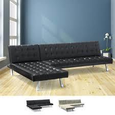 canapé d angle clic clac canapé d angle clic clac avec péninsule 3 places en faux cuir