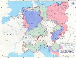 Northwestern Europe Map by Map Of Allied Gains In Central Europe December 1944 May 1945