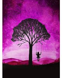 the 25 best silhouette painting ideas on pinterest galaxy art