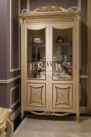 design display cabinet walnut wood veneered furniture buffets
