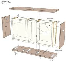 how to build custom base cabinets use stock cabinets to make a custom dining room server or