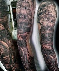 Nautical Tattoos by 40 Nautical Sleeve Tattoos For Men Seafaring Ink Deisgn Ideas