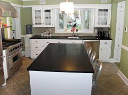 Kitchen Countertops Types Furniture Types Of Kitchen Countertops With Black Solid Surface