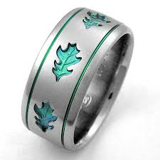 titanium wedding bands for men oakley 1 titanium ring with oak leaves titanium wedding rings