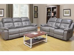 Gray Reclining Sofa by 2 Piece Gray Power Reclining Sofa And Loveseat Living Room Set