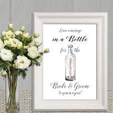 message in a bottle wedding wedding message in a bottle sign wedding guest book sign