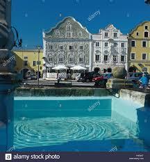 austria upper austria upper mountain in the inn house facades