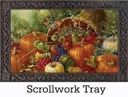 thanksgiving cornacopia u0026 outdoor cornucopia harvest insert doormat