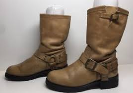 womens harley boots size 9 womens harley davidson engineer leather light brown boots size 9