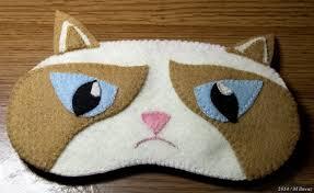 studio window grumpy cat sleep mask