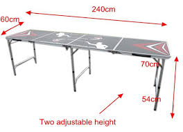 beer pong table size cm 4 sections 2 4m 8 multi purpose folding beer pong table view
