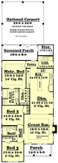 Home Floor Plans 2000 Square Feet Cottage Style House Plan 3 Beds 2 Baths 1300 Sq Ft Plan 430 40