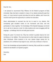 5 graduate recommendation letter parts of resume