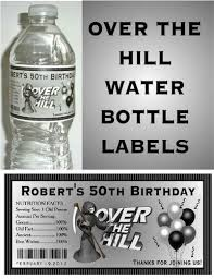 60th birthday party favors 20 the hill 40th 50th 60th birthday party favors water bottle