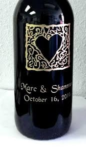 wine bottle engraving personalized bridal shower gifts from images inc