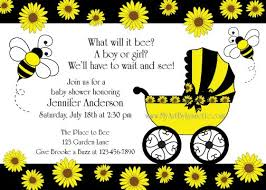 bee and sunflower baby shower invitation birthday party ideas