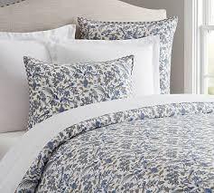 Dark Blue Duvet Blue And White Duvet Covers Pottery Barn