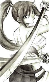 erza sarashi hakama drawing by iza nagi on deviantart