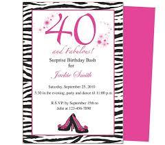 template for 40 th birthday invitation u2013 orderecigsjuice info