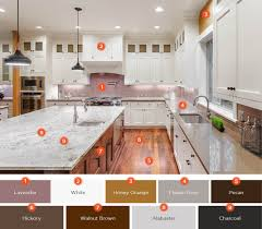 what color tile goes with brown cabinets 20 enticing kitchen color schemes shutterfly