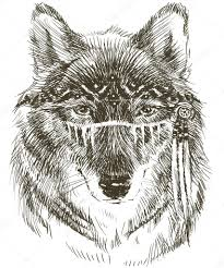 Wolf Indian Tattoos - wolf wolf indian warrior wolf sketch indian wolf