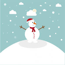 snow man landscape background vector premium download