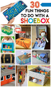 shoe box crafts for kids a and a glue gun